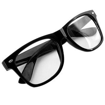Fashion Style Clear Lens Black Frame Spectacles Glasses Eyeglasses IMC