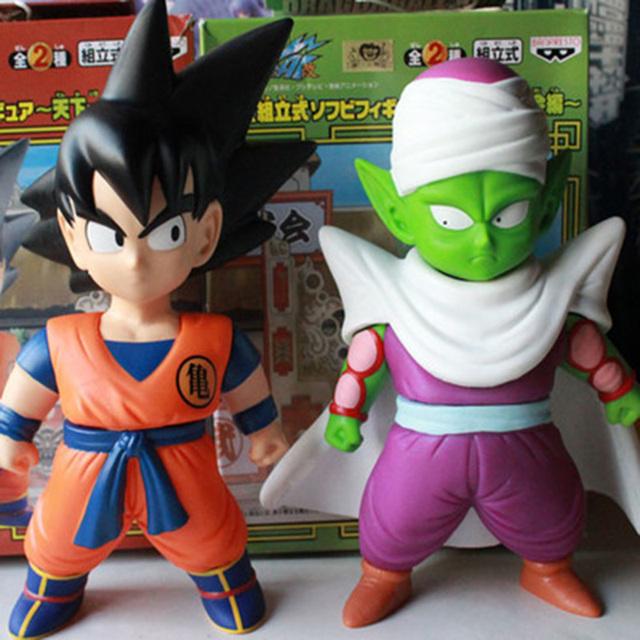 Бесплатная Доставка 2 шт./лот Япония Аниме Dragon Ball Dragonball Z Гоку БАК ПВХ Фигурку В коробке
