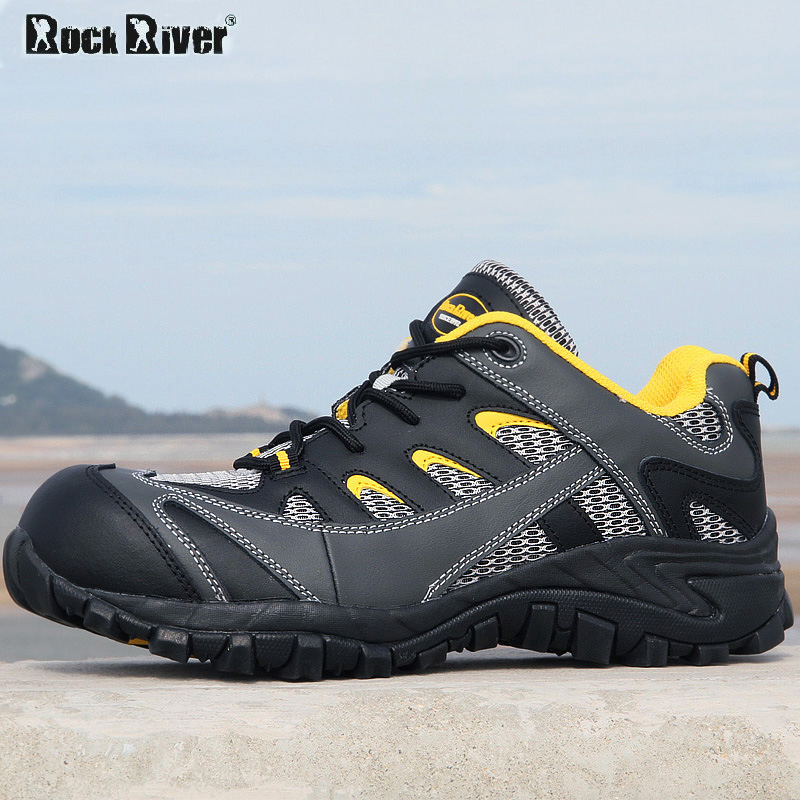 Safety shoes male genuine leather casual breathable work shoes steel toe cap covering slip-resistant shoe(China (Mainland))
