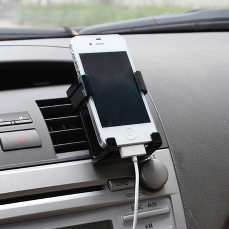 Car Air Vent Phone Holder For Iphone 6/5s/4s Automobiles Airframe Mount Stand For Samsung S5/4/3 Monopod Soporte Movil Car(China (Mainland))