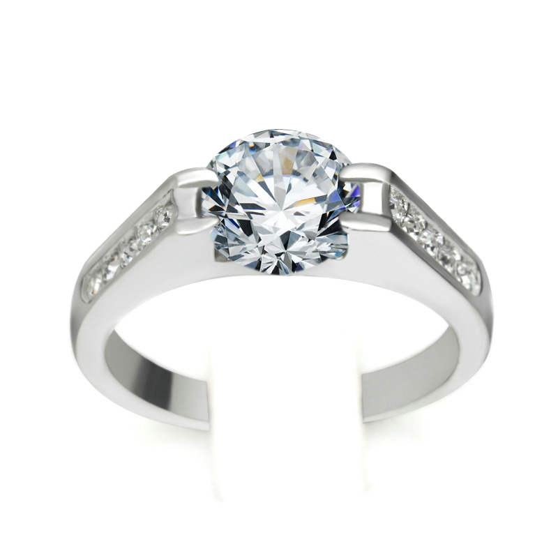 Top quality cz wedding ring rose plated jewelry austrian for Best quality wedding rings