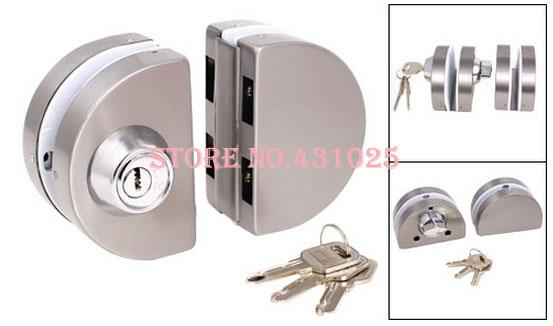 glass door lock (for swinging double doors) 2