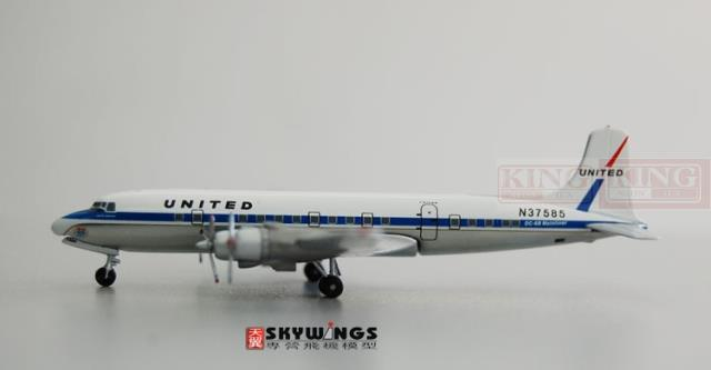 ACN37585 Aeroclassics United Airlines N37585 1:400 DC-6A aircraft commercial jetliners plane model hobby(China (Mainland))