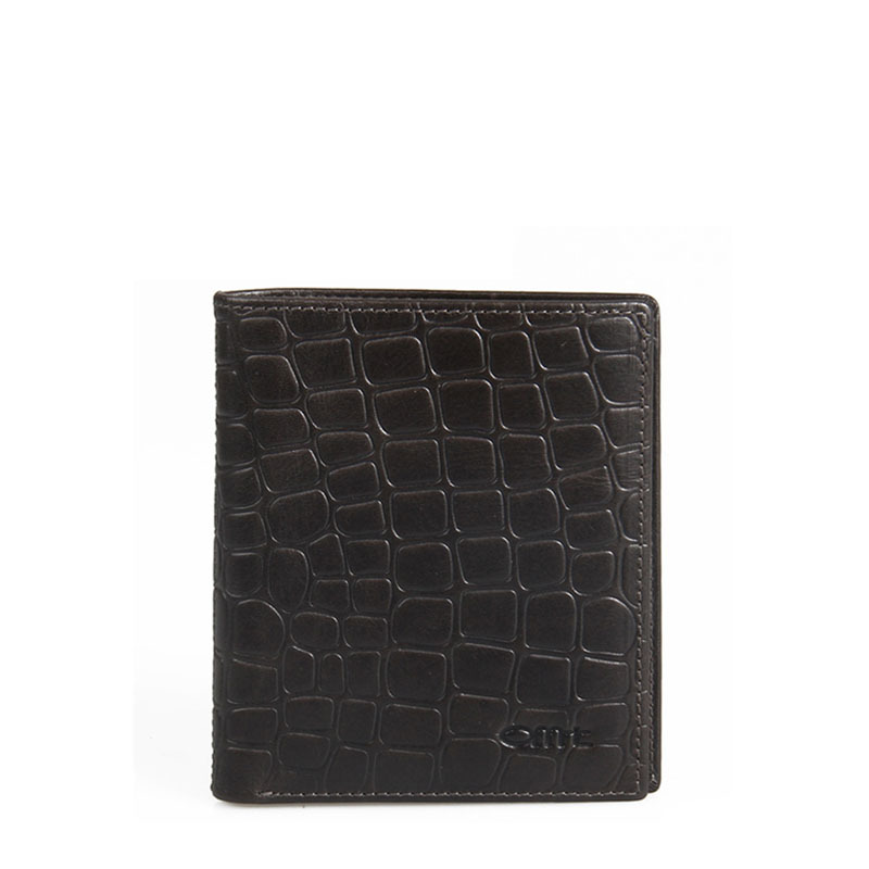 2015 Vintage Purse Crocodile Pattern Men's Genuine Leather Bi-Fold Vertical Design Dark Brown Short Wallet Men(China (Mainland))