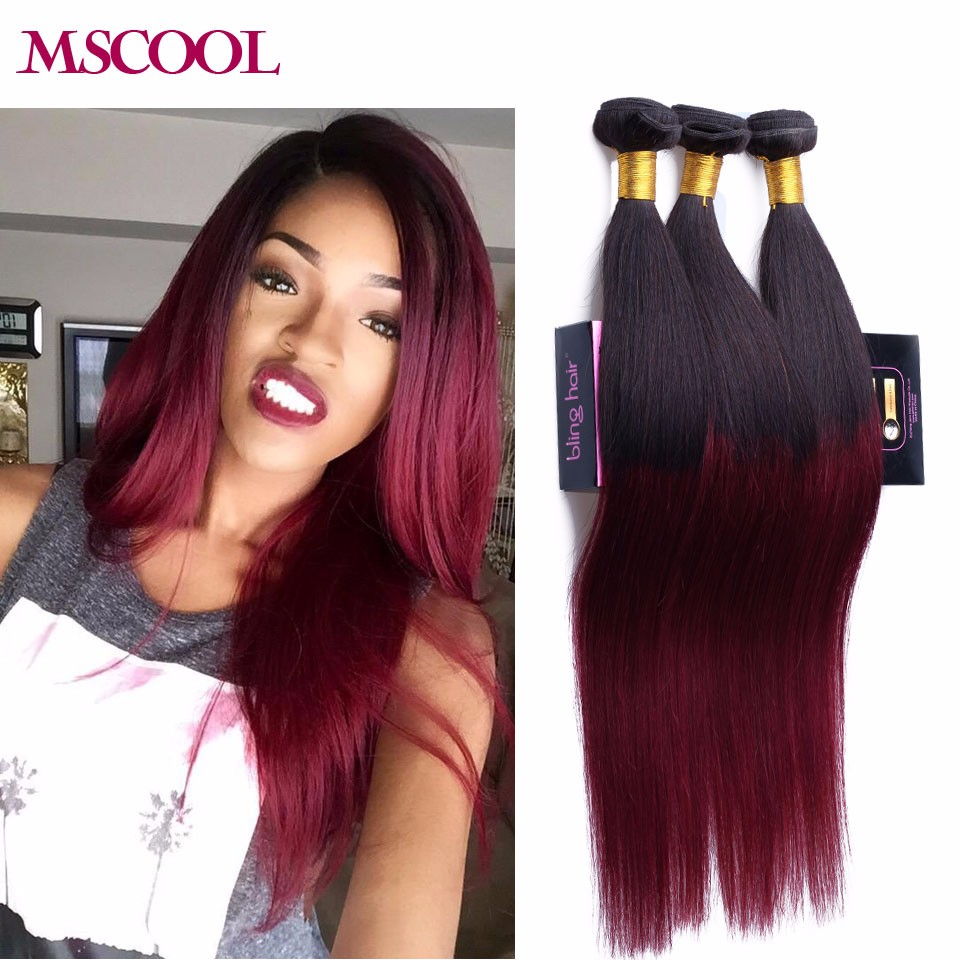 Brazilian Weave Red Remy Indian Hair