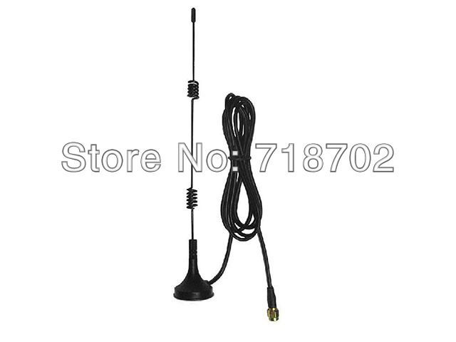 Free Shipping 5pcs 5dbi 3G Module High Gain RP Sma Male Connector Wireless Router Network Card Suction Cup Aerial Antenna(China (Mainland))