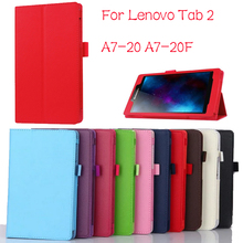 Buy New Slim Folio Bracket Lenovo A7-20F Standing Tablet Cover Lenovo Tab 2 A7 20 Flip Protective Tablet Case for $4.83 in AliExpress store