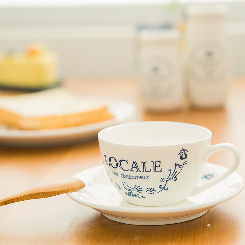 Blue and White Vine Coffee Mug Cup and Saucer Sets European ceramic Tableware high grade afternoon