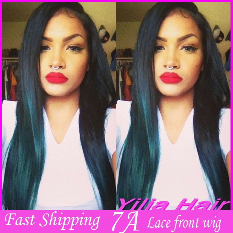 Fast Shipping Two Tone Color Ombre Silk Straight Hair For Black Women Synthet