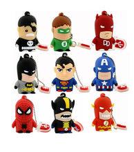 Araña super man héroe Vengadores usb 2.0 flash drive/creativo pendrive/creativo memory Stick/Disco/Pulgar regalos 4 gb 8 gb 16 gb 32 gb