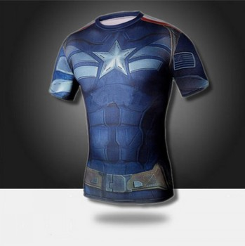 Лучшие продажи мужские мальчики сжатия броня базовый слой с коротким рукавом тепловая под списку футболку новый спорт майка фитнес футболка