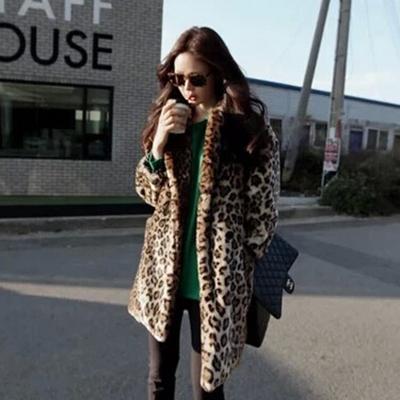 2016 зима теплая женская шуба леопарда сексуальное шуба куртка о шеи полный сгущать ...