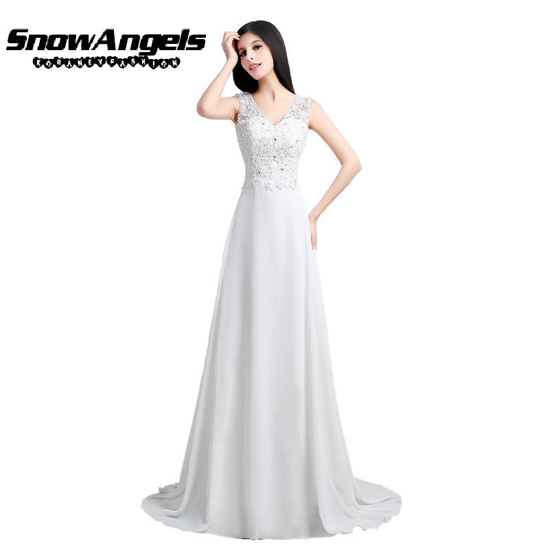 Elegant Long White and Ivory Wedding Dress Brand New Embroidery Lace Wedding Dress Hot Sexy V-Neck Backless Wedding Dress WD005(China (Mainland))