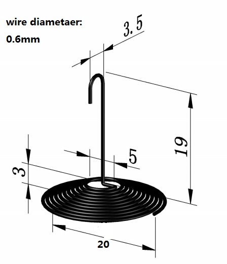 30PCS 0.6mm*20mm spring custom compression spring(China (Mainland))