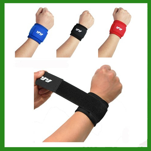 2015 Free Shipping High Elastic Sports Basketball Wrist Support Wrap Strap Wrap Bandage Wrist band Adjustable Wrist Brace(China (Mainland))