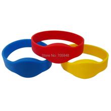 5PCS ID CARD 125Khz TK4100 RFID Silicone Wristband default post Blue color