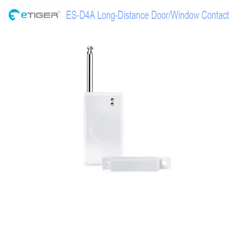 etiger ES-D4A wireless long distance door/window sensor/detector contact compatible with every Secual security alarm system(China (Mainland))