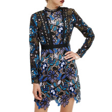SMTHMA HIGH QUALITY 2017 spring new arrive long sleeve Lace dress S/M/L(China (Mainland))