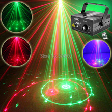 New Mini 12 Patterns RG Laser Projector Stage Equipment Lights 3W Blue LED Mixing Effect Laser