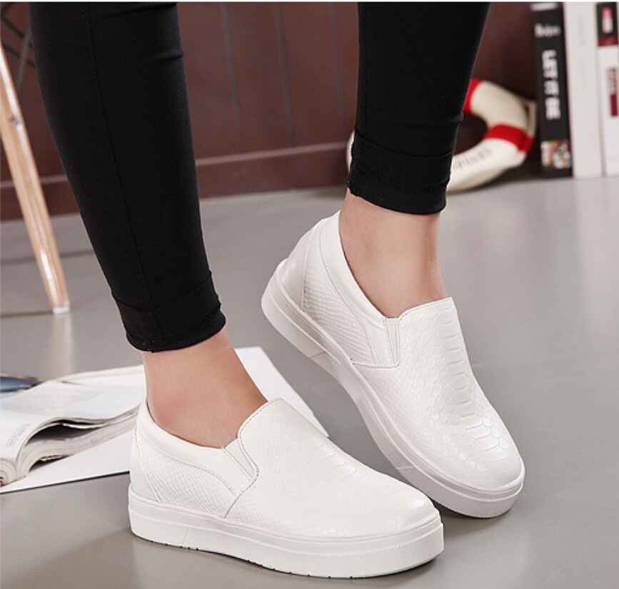 New spring summer korean style fashion casual women 39 s shoes round toe elevator shoe black sliver Korean fashion style shoes