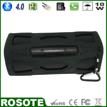 Free Shipping 2015 New 10W Mini Waterproof Portable Outdoor Super Bass HI-FI cabinet Bluetooth 4.0 speaker