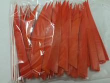 "1000pcs hunting wooden archery bow and arrow 5"" turkey feather for  DIY left wing vane fletch"