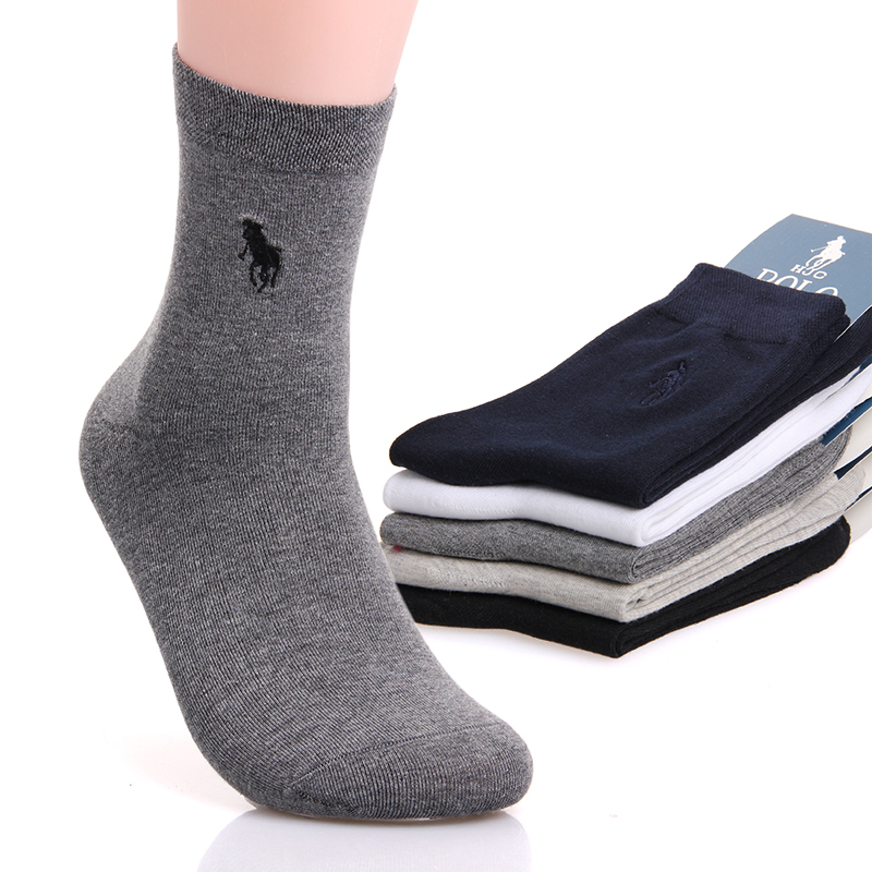 10pcs 5pairs classical Men s Socks Sport Polo Sock Brand Casual Cotton sport male sock meia