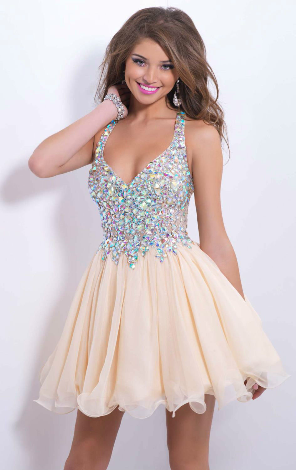 Popular White Sparkly Homecoming Dress-Buy Cheap White Sparkly ...