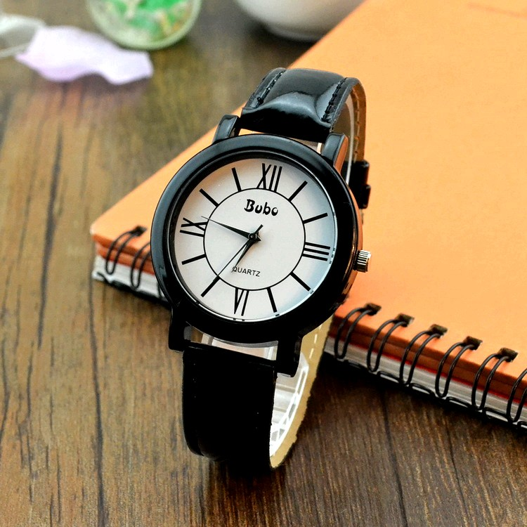 Korea fashion vintga simple unisex watch roman numerals display Wristwatches lovers Couples male female watches - sa mai's store