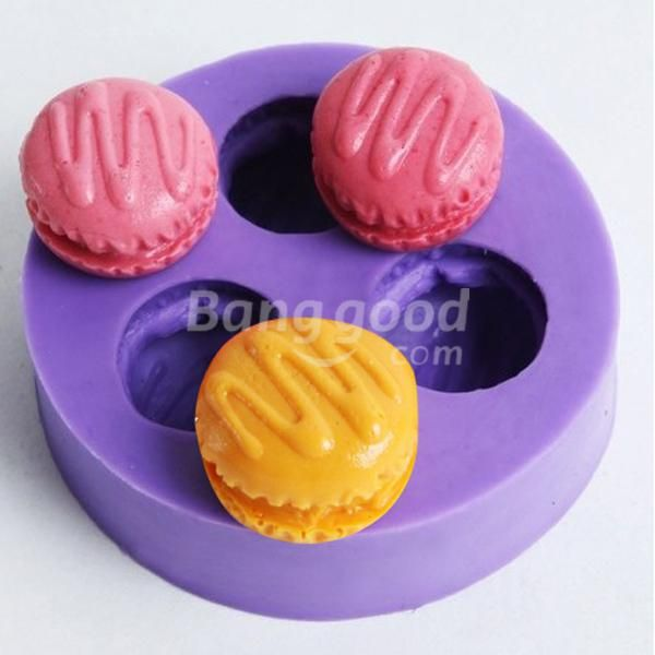 HotHeart F0350 Fondant Mini Macarons Silicone Cake Mould Soap Chocolate Mould(China (Mainland))