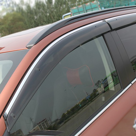 Side Window Visor Deflector Sun/Rain Guard Shield Vent Trim 2013 Mitsubishi Outlander - Lele Motors Parts & Accessories Store store