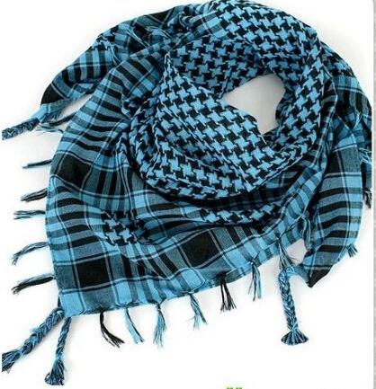 100*100 cm Unisex Women Men Checkered Arab Grid Neck Keffiyeh Palestine Scarf Wrap Polyester Scarf Shawl For Men 14 colors(China (Mainland))