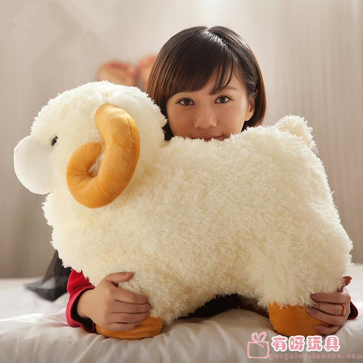 about 48 cm cartoon sheep plush toy lovely goat simulation doll Christmas gift w5885(China (Mainland))