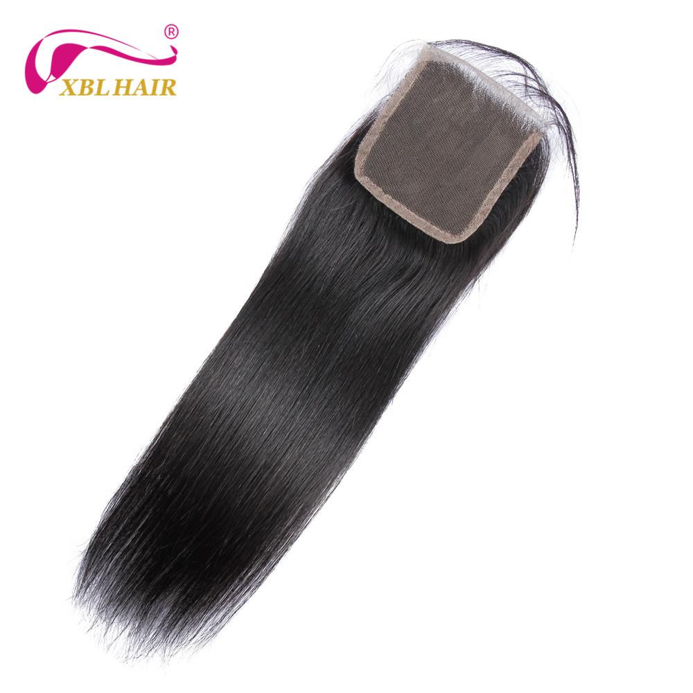 XBL Hair Brazilian Virgin Hair Straight Lace Closure 4*4″ Free Part 100% Human Hair 10-18″ Free Shipping