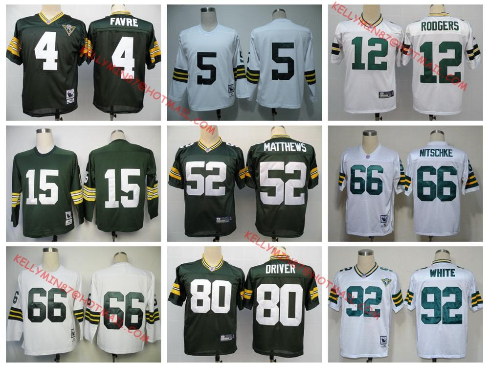 Green Bay Packers,White,brett favre,Bart Starr,Ray Nitschke,Aaron Rodgers,Donald Driver ,Paul Hornung,Throwback,camouflage(China (Mainland))