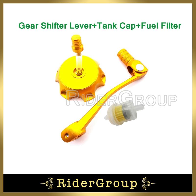 11mm Foldable Gear Shifter Lever Gas Fuel Tank Cap Cover For Chinese Pit Dirt Trail Bike 50cc 70cc 90cc 110cc 125cc 150cc 160cc