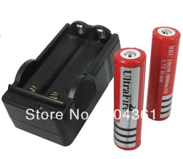 Аккумулятор UltraFire 18650 3000mah 3.7v led pen + AC DHL