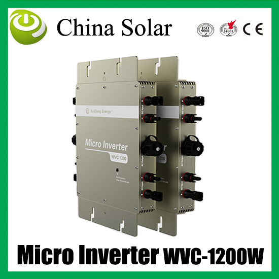 1200W high efficiency& competitive price solar grid tie micro inverter can connect 4 panels *300 watt(China (Mainland))