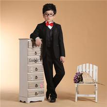 2016 jungen Hochzeitsanzug Kleinkind Hochzeit Anzüge Schwarze Formale Anzug Jungen Hochzeit Anzüge Smoking Einreiher Jungen Kleidung(China (Mainland))