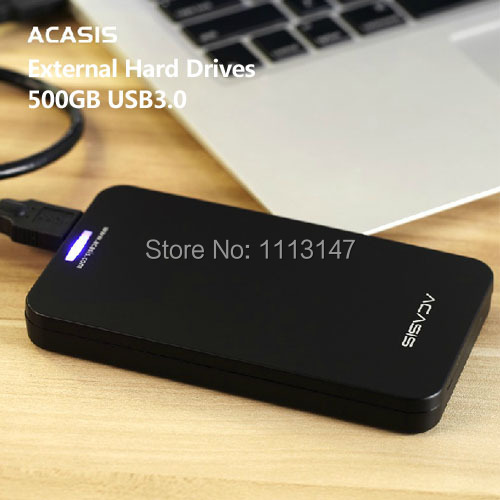 Free shipping 2.5'' Original ACASIS HDD 500G External hard drive High speed USB3.0 Portable Storage Plug and Play Good Prices(China (Mainland))