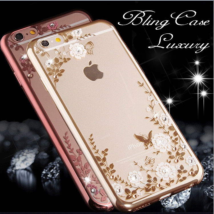 """Hot ! Bling Diamond Soft Case For Apple iphone 6 6s 4.7"""" inch Luxury Clear Mobile Phone Cover For iPhone 6 Plus 5.5"""" Back Cases(China (Mainland))"""