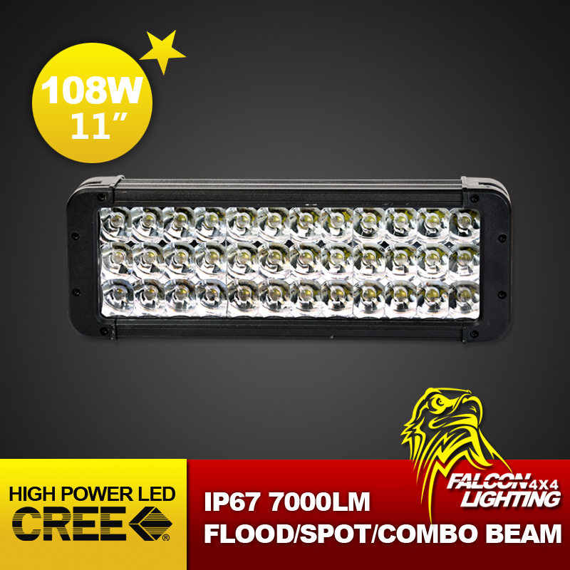 """New Style 108W 11"""" Cree LED Light Bar for Off Road Work Driving Offroad Boat Car Truck 4x4 SUV ATV Fog Spot Flood Combo 12V 24V(China (Mainland))"""