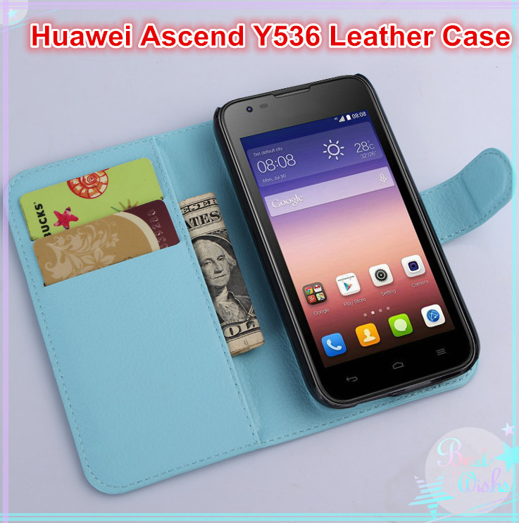 Huawei Ascend Y536 phone cover luxury 9 colors litchi texture leather case open book style flip magnetic - BOSO Technology Co., Ltd (ShenZhen store)