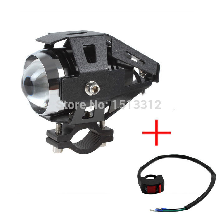 12-80V Motorcycle Headlight Spotlight Waterproof Fog Lamp 2000lm 30W White Light with Switch Free Shipping - Black <br><br>Aliexpress