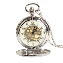 Vintage Large Gold Face Pocket Watch Necklace Women Men Quartz Pocket Watch ~M24(China (Mainland))