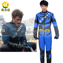 Iron man Tony racing  cosplay costume factory price halloween