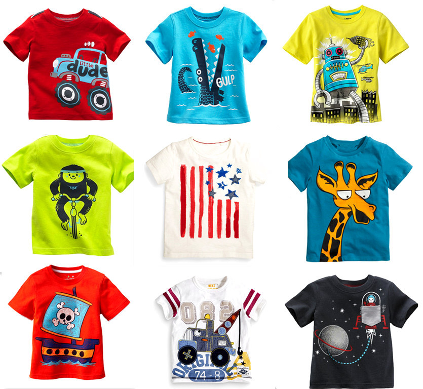 Brand Retail 2015 New Arrival Hot Sale Summer T-shirts t shirt for Baby boys Childrens Kids Blouse Chothes Chothing(China (Mainland))