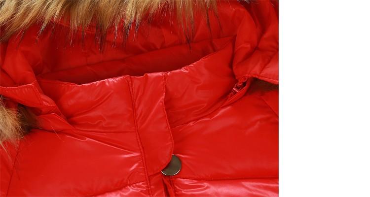 Скидки на Ребенка детский зимний комбинезон большой raccon воротник мальчик девочка зимний верхней одежды наряды с капюшоном тепловой новорожденный детский зимний снег носите