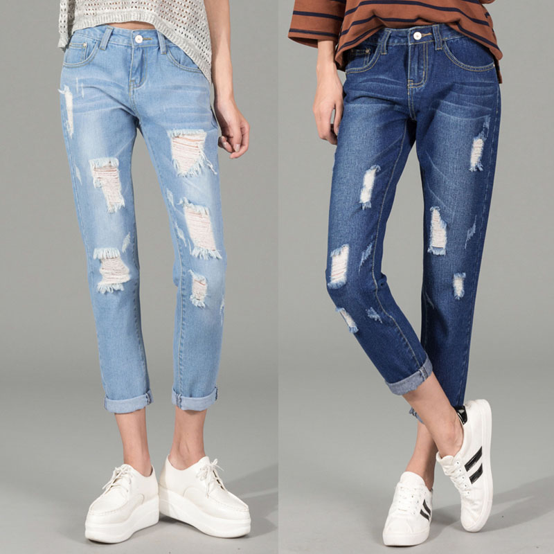 Women's destroyed ripped jeans – Global fashion jeans collection
