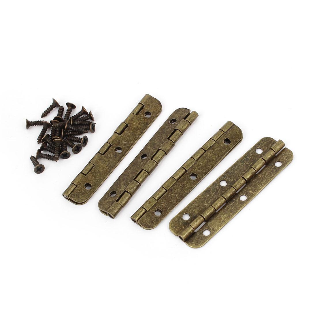 4 Pcs/lot Bronze Tone Rotatable Drawer Dresser Door Butt Hinges 5cm Long(China (Mainland))